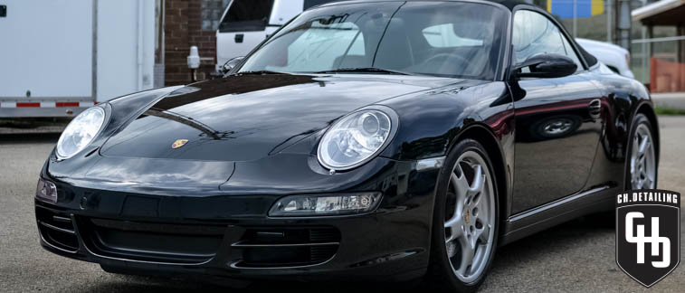 madison best auto detail black porsche paint care chdetailing ch.detailing connor harrison wisconsin milwaukee rockford illinois 911 cabriolet paint correction professional polishing buffing wax job