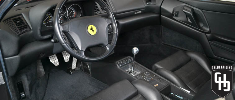 madison best auto detail chdetailing ch.detailing connor harrison detailing ferrari f355 pininfarina paint correction professional polishing buffing leather care scratch repair cquartz finest